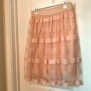 Coral tule skirt